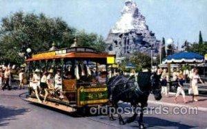 Horse drawn streetcar Disney Unused