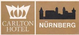 GERMANY NUERNBERG CARLTON HOTEL VINTAGE LUGGAGE LABEL