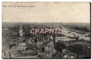Old London Postcard View From the Monument
