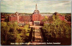 1939 Hartford, CT Postcard Aetna Life Insurance Co Advertising / 1939 NYWF Expo