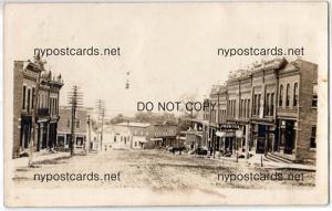 RPPC, Street Scene, PM Cattaraugus NY