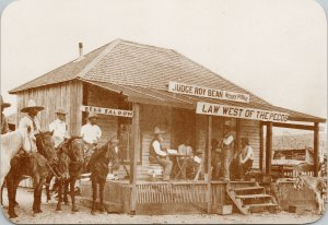 Judge Roy Bean Law West Of The Pecos Langtry Texas TX Large Repro Postcard F20