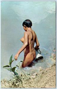 ALTO ORINOCO, VENEZUELA    Mision de Mavaca  INDIA GUAICA  Nude Risque  Postcard