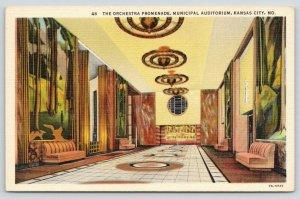 Kansas City Missouri~Municipal Auditorium~Orchestra Promenade~Seating Side~1940s