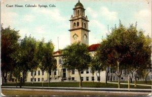 Colorado Springs CO Court House Postcard unused 1900s/10s
