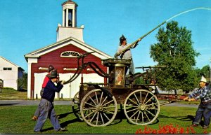 New York Monroe Old Museum Village Fire House and 1840 Washington Hand Pumper