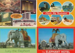 Atlantic City The Elephant Hotel Lucy 4x Postcard s