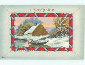 Divided-Back CHRISTMAS SCENE Great Postcard W9185