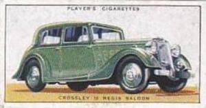 Player Vintage Cigarette Card Motor Cars 1st Series 1936 No 14 Crossley 10 Re...