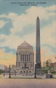 Indiana Indianapolis Indiana World War Memorial and Obelisk Curteich