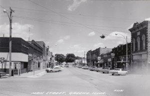Iowa Greene Main Street Business Section Real Photo sk546