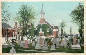 Philadelphia PA~Old Swedes Church~Graveyard~Tombstones~Detroiot Pub Co #5534