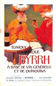Advertising Byrrh Postcard Tonique Hygienique A Base De Vins Genereux de Quin...