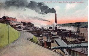 THE GREAT B & M COPPER SMELTER.  GREAT FALLS.