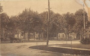 F73/ Auburn Indiana Postcard c1910 North Main Street Homes Car