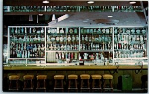 1950s Reno, Nevada Postcard HORSESHOE CLUB Bar View / Beam Bottle Collection