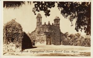 RP: Plymouth Congregational Church , Coconut Grove, MIAMA , Florida, 20-30s