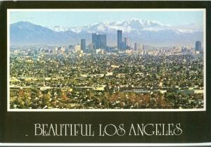 Beautiful Los Angeles, 1980s unused Postcard