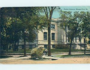 Divided Back LIBRARY SCENE Mason City Iowa IA hs2829