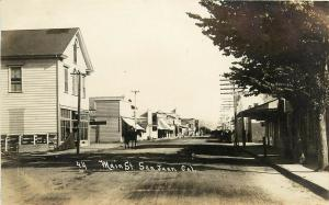 c1909 RPPC Postcard 44 Main Streeet San Juan Bautista CA San Benito County