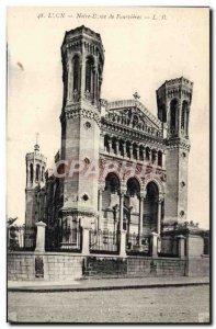 Old Postcard Lyon Notre Dame Fourvières