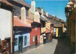 Postcard CZECH REPUBLIC Praha prague praga golden lane architecture houses city