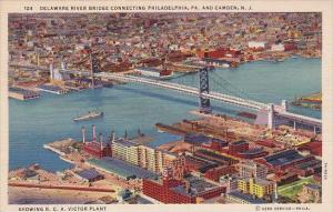 Delaware River Bridge Connecting Philadelphia Pennsylvania