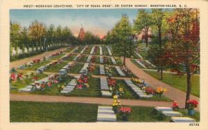 Winston-Salem North Carolina~Moravian Graveyard Tombstones~Easter Sunday~1940s