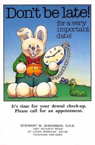 Appointment Reminder Rabbit with a Clock Occupation, Dentist Unused