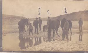 RP: Hunting Party with dogs in creek , LANGOLEN , Alberta , Canada , 00-10s