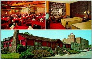 Frederick, Maryland Postcard RED HORSE MOTOR INN & Steak House 3 Views c1960s