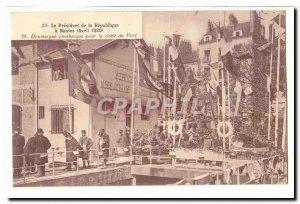 Nantes Old Postcard The President of the Republic has Nantes (April 1920) M D...