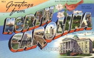 North Carolina Large Letter State States Post Cards Postcards  North Carolina...