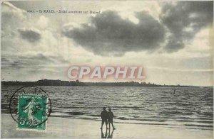 Postcard Old St Malo Sunset Dinard