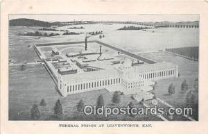 Federal Prison Leavenworth, Kansas USA Prison Postcard Post Card Leavenworth,...