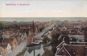 Spakenburg Netherlands Birds Eye View Antique Postcard J55526