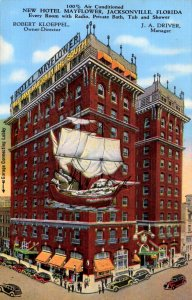 Jacksonville, Florida - A view of the New Hotel Mayflower - in the 1940s