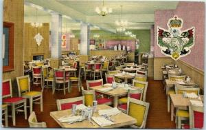 New York City Postcard King of the Sea Seafood House Restaurant Linen 1940s