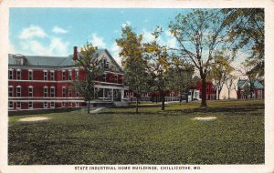 State Industrial Home Buildings, Chillicothe, Missouri, Early Postcard, Unused