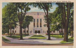 Wisconsin Oshkosh Winnebago County Court House 1941 Curteich