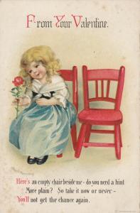 Ellen CLAPSADDLE ; Girl w/flower , From Your Valentine , 00-10s