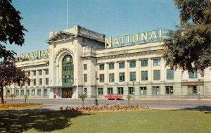 CANADIAN NATIONAL STATION Vancouver Railroad Station c1950s Vintage Postcard