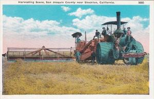Harvesting Scene San Joaquin County Near Stockton California