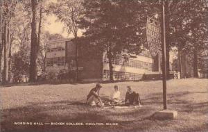 Maine Houlton Wording Hall Ricker College