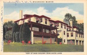 Schwenksville Pennsylvania main bldg Woodside Manor linen antique pc Z19521