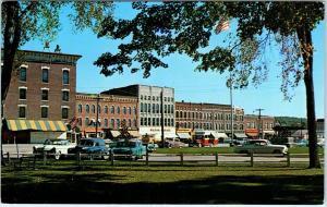 FAIR HAVEN, VT Vermont     MAIN STREET Scene  50s Cars   1959     Postcard