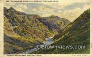 Grand Canyon of Snake River - Idaho ID