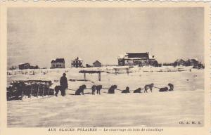 AUX GLACES POLAIRES [Arctic] , Le Charriage du bois de chauffage , Canada , 1...