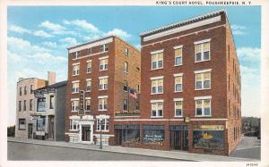 King's Court Hotel, Poughkeepsie, N.Y.,  Early Postcard, Unused