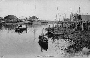 Singapore The Rochor River Boats Postcard